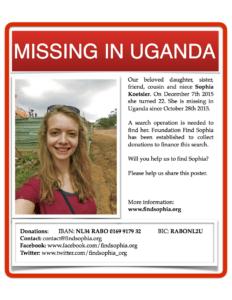 Poster to find Sophia Koetsier