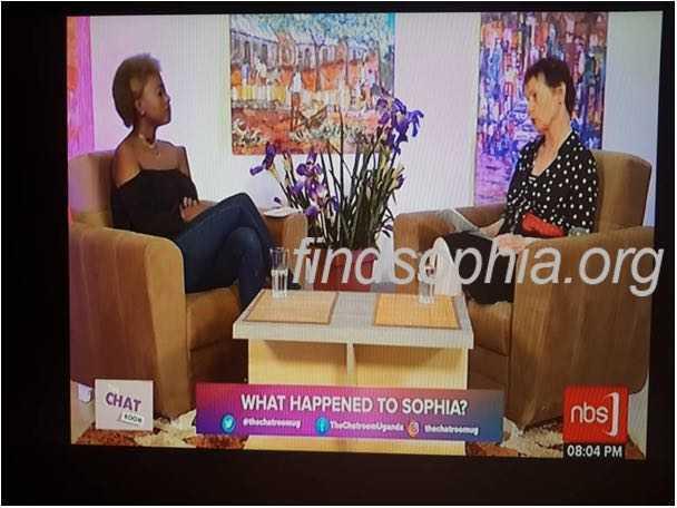 Sophia's verdwijning op TV in Oeganda