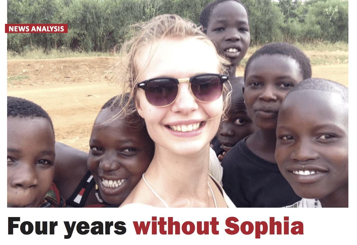 Vier jaar zonder Sophia